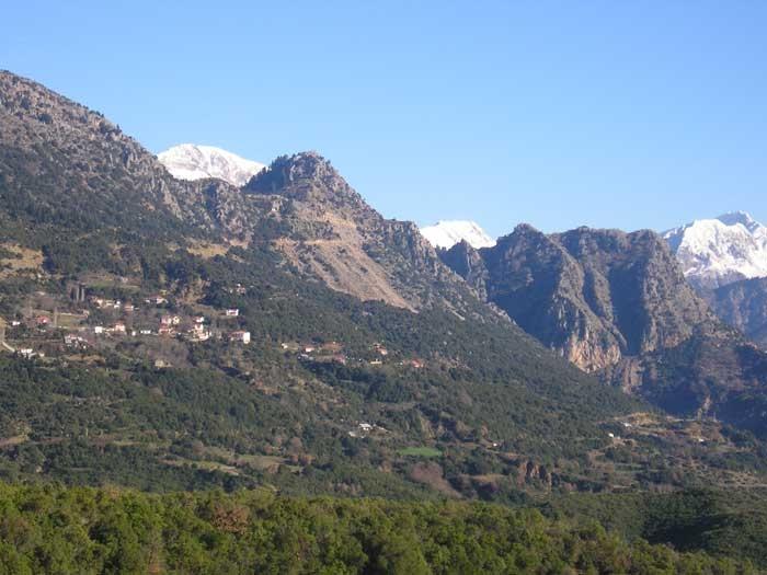 Θέα χωριού από Πουρνάρι